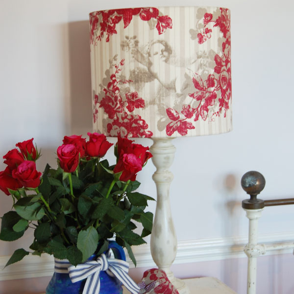 rose angelico linen lamshade