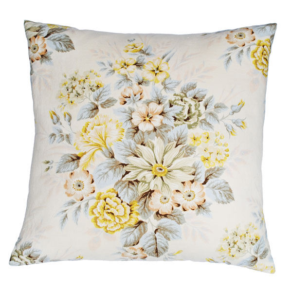 faded floral cushion