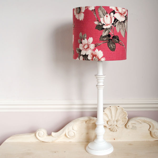 old rose lampshade