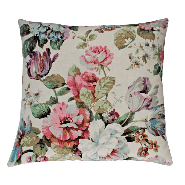 Pastel floral cushion