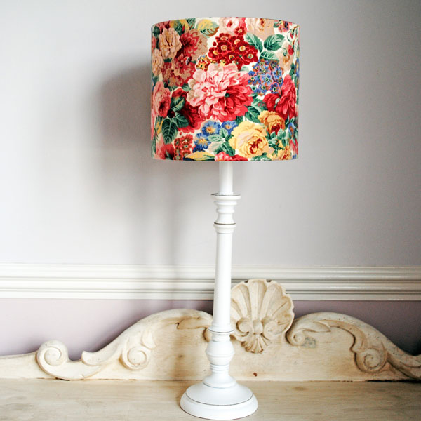 peony and roses lampshade