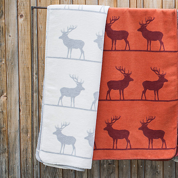 Rows of Reindeer Throw