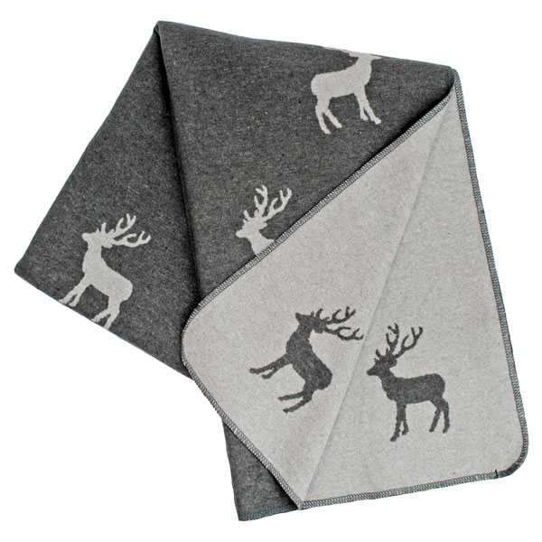 Silhouette Stag Throw