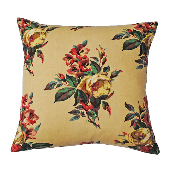 painted roses cushion