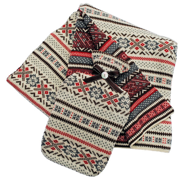 Fair Isle throw