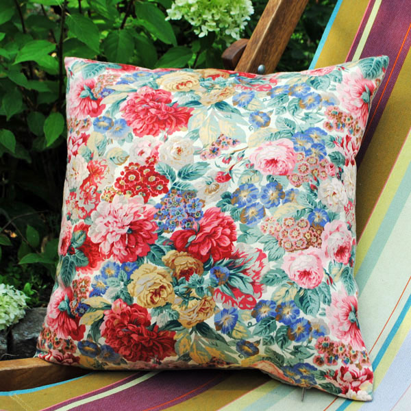 peony and roses cushion